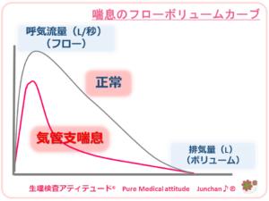 喘息のフローボリュームカーブ