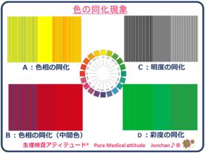 色の同化現象