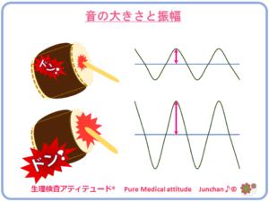 音の大きさと振幅