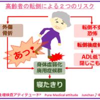 高齢者の転倒による2つのリスク
