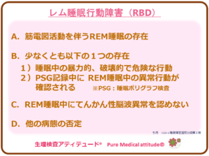 レム睡眠行動障害(RBD)
