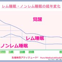 レム睡眠・ノンレム睡眠の経年変化