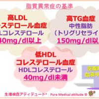 脂質異常症の基準